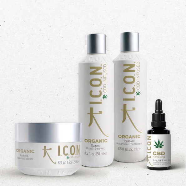 Organic hair treatment infused with CBD Oil